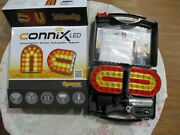 Sparex Connix Wireless Led Magnetic Cable Free Tractor Trailer Safety Light Kit