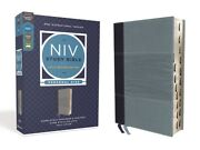 Niv Study Bible, Fully Revised Edition, Personal Size, Leathersoft, Navy/bl...