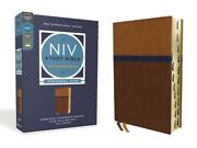 Niv Study Bible, Fully Revised Edition, Personal Size, Leathersoft, Brown/b...