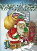 3 X Musical Christmas Cards 3d Plays Xmas Jingles When Open Red Led 20cmx14cm