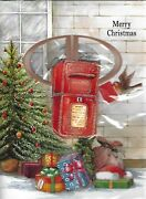 5 X Musical Christmas Cards 3d Plays Xmas Jingles When Open Red Led 20cmx14cm
