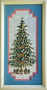 Christmas Tree Framed Jewelry One Of A Kind Art Unique Gift Vintage Decor