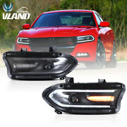 Vland Headlight For Dodge Charger 2015-2020 Assembly W/ Sequential Indicator