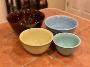 Bauer Pottery Nesting Mixing Bowl Set