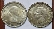 Canada 1937 1955 25 Cents 2 Coins Caribou Animal 490096 Combine
