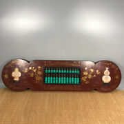 40'' Chinese Antique Wood Abacus Natural Yellow Rosewood Abacus Ruyi