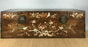 32and039and039 Chinese Antique Wood Box Natural Yellow Rosewood Box Painting Box Shell