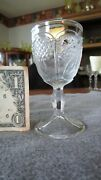Eapg Us Glass Double Dahlia With Lens Wine Cordial Circa 1905