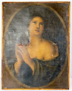 Antique 18th/19th Century Old Master Painting Madonna Mary Magdalene Lady