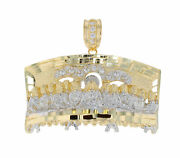 10k Or 14k Two Tone Gold Striking Detail Last Supper Large Pendant