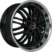 4 G23 20 Inch Black Rims Fits Ford Focus Electric 2013 - 2019