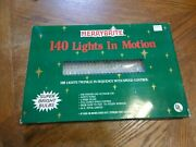 140 Christmas Lights In Motion Clear Twinkle Speed Control Works New Old Stock