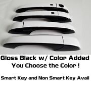 Black And Color Door Handle Overlays 2008-2018 Chrysler Town And Country Pick Clr