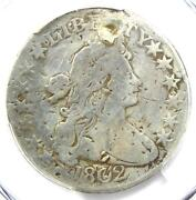1802 Draped Bust Half Dollar 50c Coin - Pcgs Vg Details Plugged - Rare Date