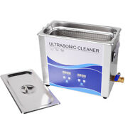 Us Ultrasonic Cleaner With Heating Bath F Dental Tool/watches/glasses/coins 6.5l