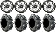 System 3 Sb-3 Machined 14 Wheels 27 Bogger Tires Can-am Maverick X3