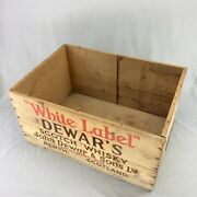 Vintage Dewars Scotch Whisky Shipping Crate - Antique Wooden Box - Wood Case