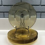 Antique Yellow Amber Diana Depression Glass Dinner Plates By Federal Glass 5