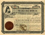 Gold Wolf Mining Co Wilmington Delaware - Stock Certificate