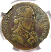 George Washington Success Large Re Medal Coin- Certified Ngc Xf Detail Plugged