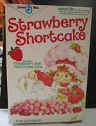 Vintage Strawberry Shortcake Cereal Box 1983 Breakfast Daily Life Story Back