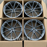 21 New Gray Staggered Style Forged Wheels Rims Fits For Porsche Cayenne