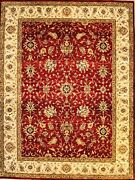 Hand-knotted Rug Carpet 8'9x11'8, Agra Mint Condition