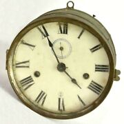 Antique Rare Seth Thomas Ship Day Lever Boat Wall Clock Paper Labled Back