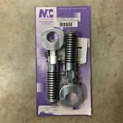Mc Enterprises Clamps 1-1/4 Aluminum Foot Peg Clamps With O-ring Pegs 16200217