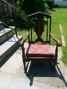 Antique Rocking Chair ---very Old Piece Of Furniture