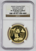 Niue 2014 200 Disney Characters Mickey Mouse 1 Oz Gold Proof Coin Ngc Pf70 Uc