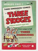 The Three Stooges 2 Vg 4.0 St John Publishing Company 1953 3-d Glasses Included