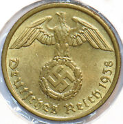 Germany 1938 Low Mintage 10 Pfennig Eagle Animal 490397 Combine Shipping