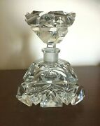 Antique Occupied Germany Us Zone 1945-1949 Hand Cut Lead Crystal Perfume Bottle