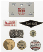 Babe Ruth Ephemera Items Lot Of 8 All Old And Historical Huge Resale