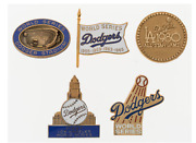 1959-80 Los Angeles Dodgers Pins, Lot Of 5