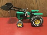 Vintage Tonka Green Farm Tractor With Front End Loader Bucket Xmb-975 Restored.
