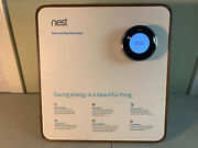 Rare Nest Learning Thermostat Demo Store Display Wood Stand - As-is