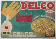 Indian Vintage Tin Sign Advertisement Board-delco Bicycle Axles /size-8x5.5 Inch
