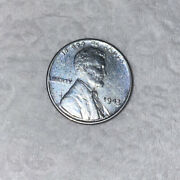 1943 Silver Steel Penny -rare- No Mint Stamped