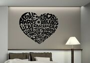 Wall Vinyl Decal Sticker Quote Word Love In Different Language Of World N1363