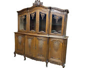 Exquisite Antique French China Cabinet Oak 1920and039s