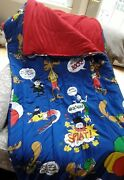 Rocky And Bullwinkle Vintage Sleeping Bag - Collectible 60's Retro