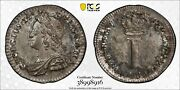 Silver 1743 England Great Britain 1 Pence Penny George Ii | Pcgs Ms64 | S-3715a