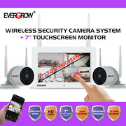 Expandable 4ch Audio Home Security Camera Systems With 7inch Screen Monitor