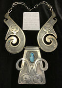 Museum Quality Andldquoben Silverhand Thompsonandrdquo Sterling Silver And Turquoise Necklace