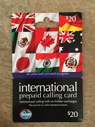 International Prepaid Calling Card -- 25 20 Gift Cards Issued By Kroger