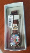 Fossil Se-1013 Watch International Flags New Old Stock Mint In Box W/ Tags Rare