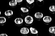 Natural Crystal Quartz 3x3 Mm To 10x10 Mm Round Faceted Cut Loose Gemstone Mix