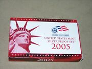2005-s Silver Proof Set W/state Quarters In Original Us Mint Packaging -11 Coins